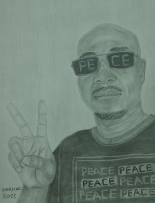 Peace, 2012, Drawing/ Pencil on Paper ( 70 x 50 cm )