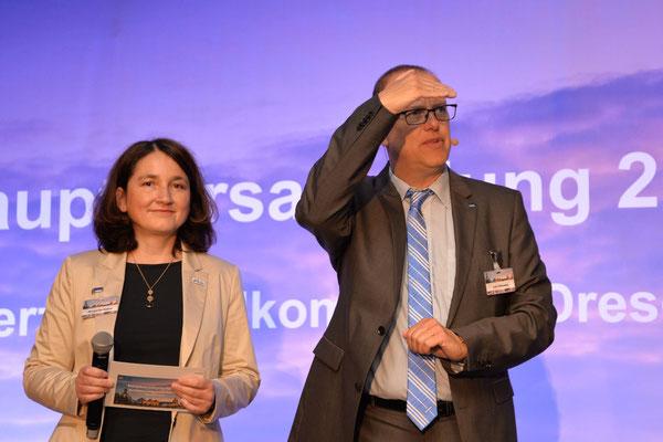 Margarita Debos und Lutz Poncelet präsentierten den Rechenschaftsbericht.