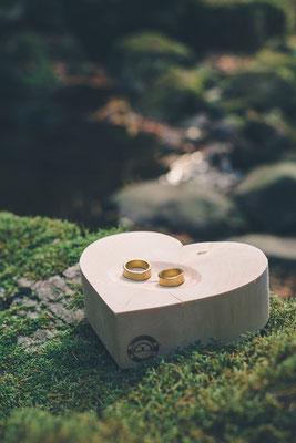 Ringschale aus Holz