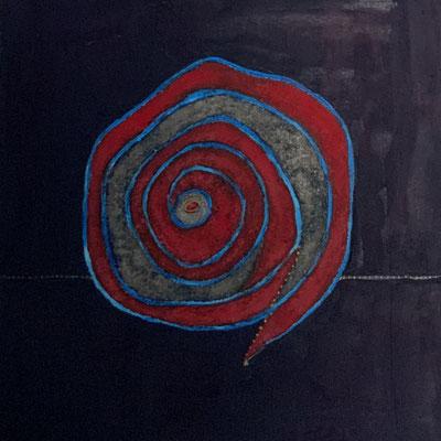 acrylique et pigments sur toile 30x30