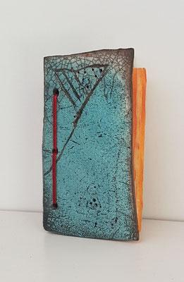 céramique Raku et encres sur papier