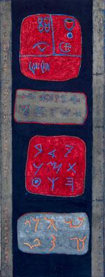 acrylique et pigments sur toile 20x80