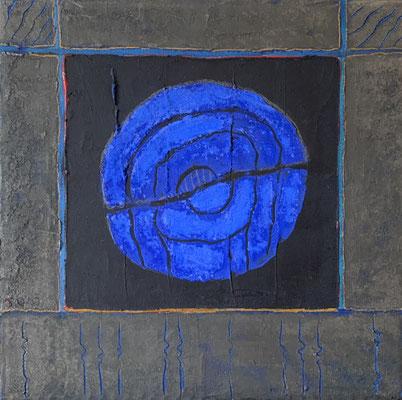 acrylique et pigments sur toile 20x20
