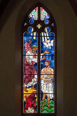 Schlosskirche Interlaken, Farbfenster von Paul Zehnder