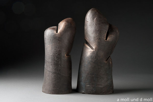 """Heinz Gerber, Bronzeplastik aus der Serie """"Tonarten"""""""