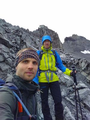 Abstieg vom Ortler, bzw. der Payerhütte nach unwetterbedingten Abbruch des Gipfelaufstiges