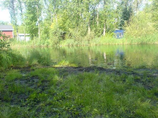 In der Lagune am Campingplatz wurden Wasserproben entnommen.