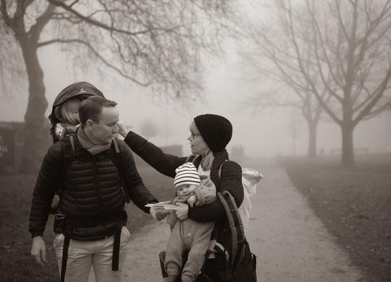 Familienfotos im Freien in Hamburg