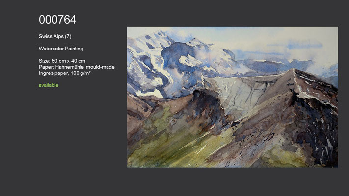 764 / Swiss Alps (7), 60 cm x 40 cm; available