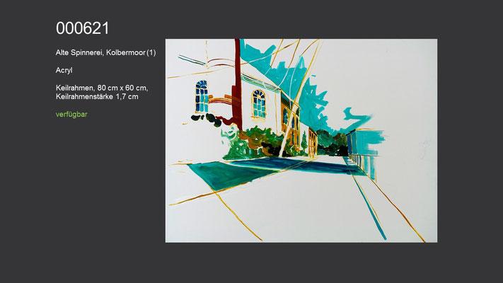 Alte Spinnerei, Kolbermoor (1), Acrylgemälde (Acrylmalkurs Erwin Kastner), verfügbar