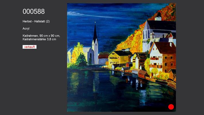 Herbst - Hallstatt (2), Acrylgemälde; verkauft