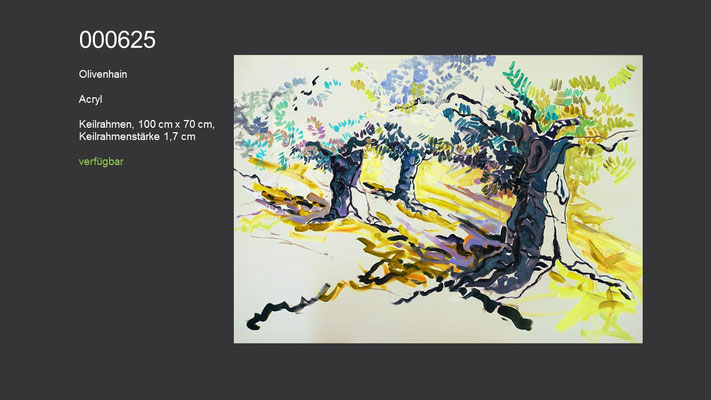 Olivenhain, Acrylgemälde (Acrylmalkurs Erwin Kastner), verfügbar