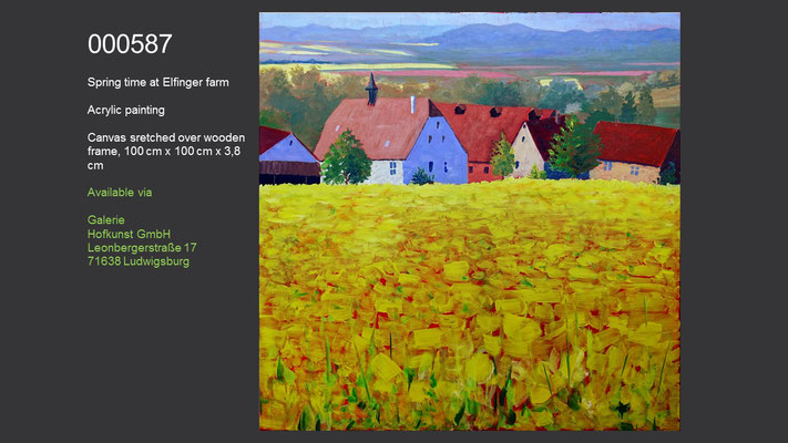 Spring time at Elfinger farm, Acrylic Painting, available