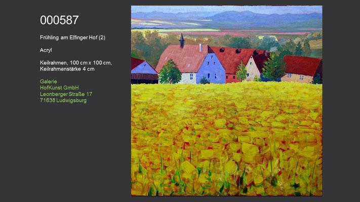 Frühling am Elfinger Hof (2), Acrylgemälde, verfügbar