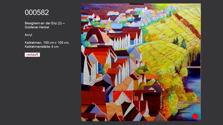 Besigheim an der Enz (2) – Goldener Herbst, Acrylgemälde; verkauft