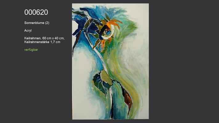Sonnenblume, Acrylgemälde (Acrylmalkurs Erwin Kastner) , verfügbar