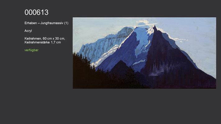 Erhaben - Jungfraumassiv (1), Acrylgemälde, verfügbar