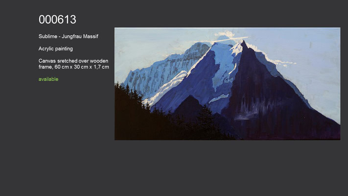 Sublime - Jungfrau Massif, Acrylic Painting, available
