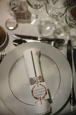 Décoration de table à la Grange d'Espin thème Champêtre/Geek