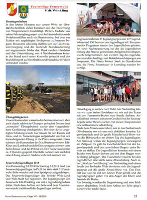 Bericht Gemeindezeitung EDT