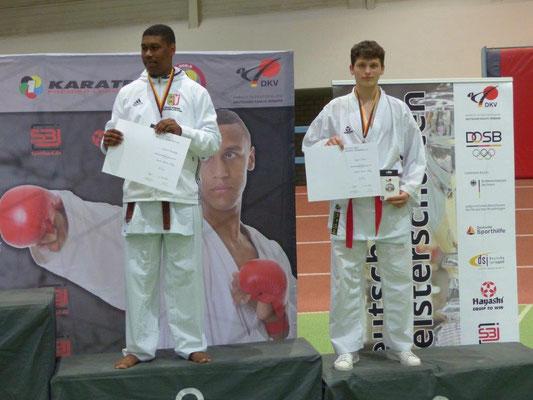 Endrit Salihi (rechts) erkämpfte sich Bronze auf der Deutschen Meisterschaft