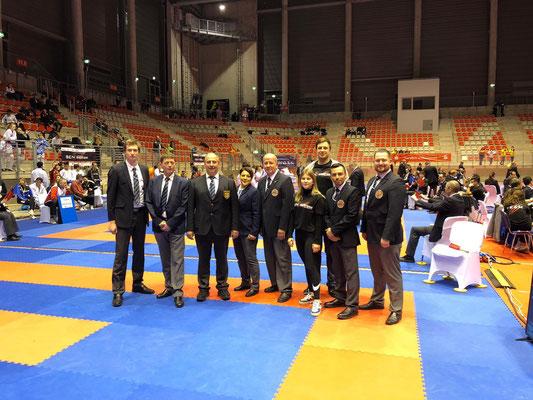 Ralf Vogt und sein Kampfrichter Team auf dem Rhein Shia In der Nürburg Arena