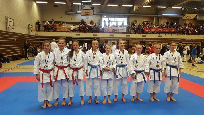 Siegerehrung der Kata Team Wettbewerbe