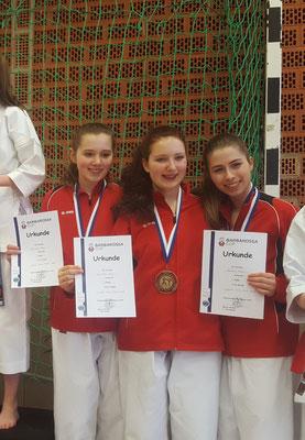 Das erfolgreiche Kata Team (Louisa Jahn, Josina Treptow, Mercedes Wermes)