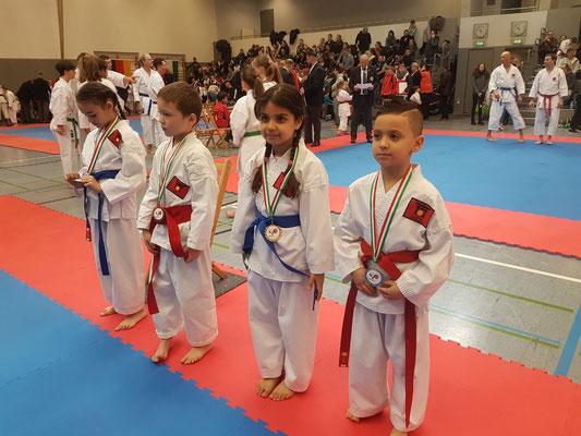 1. Platz Helin, 2. Platz Alessio, 3. Platz Tianbai 3. Platz Kadhija