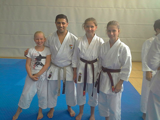 Sonja Schiffman (Bochum), Moh'd Abu Wahib, Louisa Jahn und Mercedes Wermes