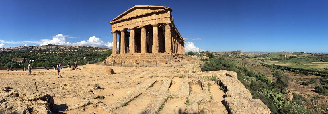 Panoramique sur les temples