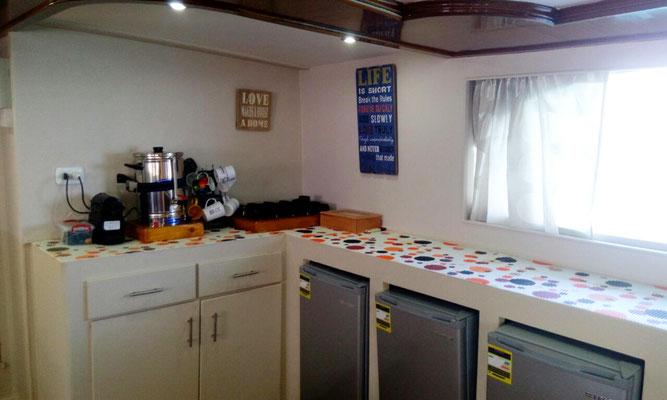 Der Buffetbereich wurde ausgebaut sodass nun ausreichend Platz ist um die köstlichen Speisen aus der Küche anzubieten.