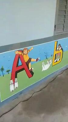 Wandbild Buchstaben A+B