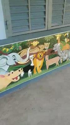 Wandbild Zoo