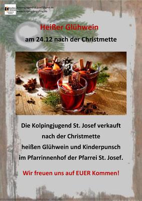 Glühweinverkauf der Kolpingjugend St. Josef Dingolfing