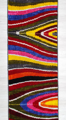 IKAT silk velvet finest quality IKATbyFelli.com fabric stoff material cloth rainbow regenbogen avantgarde