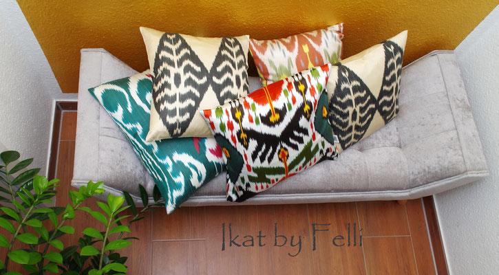 Eine Mixtur der IKAT Kissen Kissenbezüge Kissenhülle