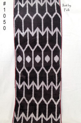 IKAT silk velvet black finest quality IKATbyFelli.com fabric stoff schwarz avantgarde