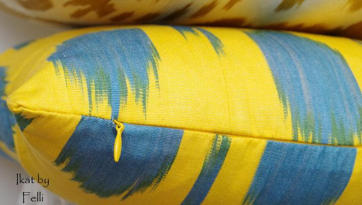 Kissenbezug IKAT-Seide Kissenhülle Baumwolle Reissverschluss