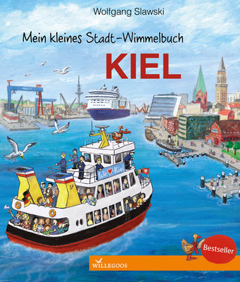 """www.amarillu.de, """"Mein kleines Stadt-Wimmelbuch Kiel"""", erschienen im Willegoos Verlag von Wolfgang Slawski"""