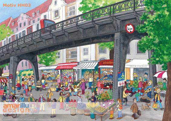 www.amarillu.de, Hamburger Isemarkt, Motiv HH03