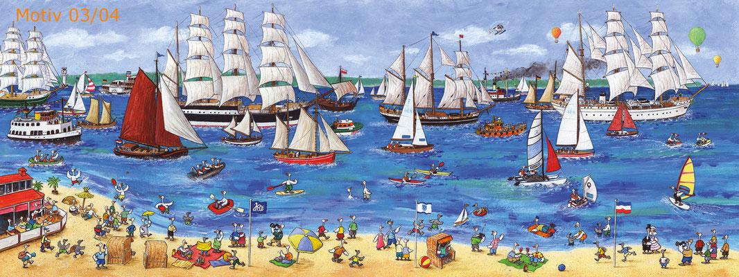 """www.amarillu.de, """"Windjammer-Panorama"""", 30x80cm, Motiv 03/04"""