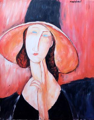 Modigliani Jeanne Hubutern 50x40 olio su tela