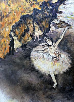 DE GAS ballerina che fa il saluto  70x50 olio su tela