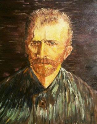 Van Gogh  autoritratto 50x40 olio su tela