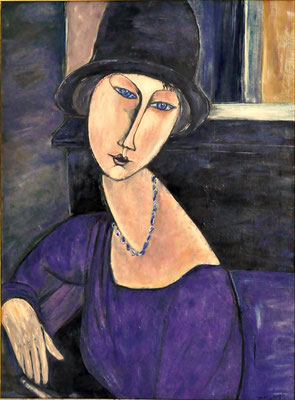 Modigliani jeanne Hbutern  60x80 olio su tela