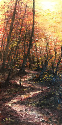 autunno 30x60 olio su tela