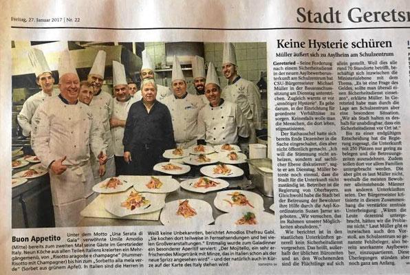 Una Serata di Gala in Geretsried mit 9 italienischen Köchen