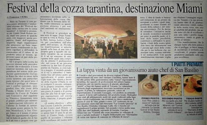 Giornale il quotidano Puglia 2016