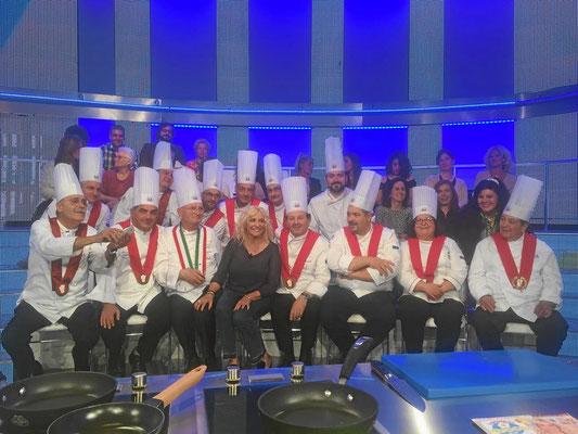 """TV-Sendung """"La prova del cuoco2 mit Antonella Cerici im italienischen TV RAI uno."""
